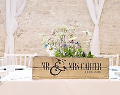 Personalised Rustic Wedding Wooden Table Centrepiece Wooden Wedding Crate Apple Crate Wedding Gift Y Wooden Crates Wedding, Rustic Wedding Gifts, Wood Crates, Tables Étroites, Wooden Tables, Wooden Boxes, Wedding Table Centerpieces, Table Wedding, Wedding Ideas