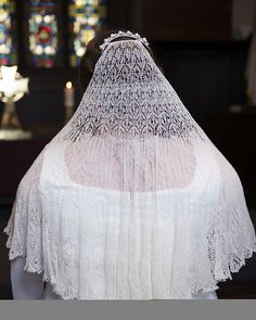 Knitted wedding veil on Ravelry