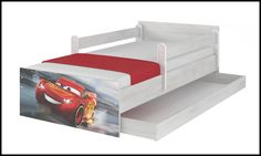 Disney children's bed Cars 3 - McQueen – Kiddymill Magical Room, Childrens Desk, Mattress Frame, Bed With Drawers, How To Make Bed, Kid Beds, Cot, Kids Bedroom, Mcqueen