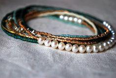 Boho Necklace or Bracelet  Elegant Bohemian by LavenderField, $35.00