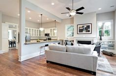 Modern Kitchen Living Room houzz - home design, decorating and remodeling ideas and