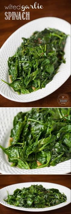 Hot and flavorful Wilted Garlic Spinach is an easy and healthy side dish that compliments any dinner, and the best part is that it takes minutes to prepare. Diabetic Side Dishes, Healthy Side Dishes, Side Dish Recipes, Fresh Spinach Recipes, Healthy Vegetable Recipes, Vegetarian Recipes, Steamed Spinach, Garlic Spinach, Salads