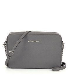 Steel Grey:MICHAEL Michael Kors Jet Set Travel Large Cross-Body Bag