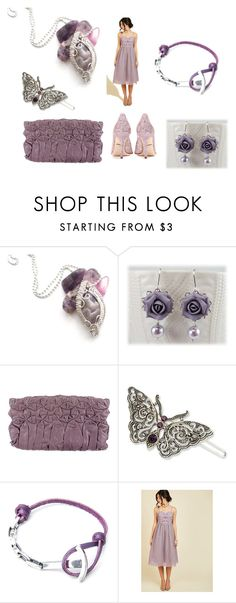 """""""Purple&Silver"""" by monika-przymuszala ❤ liked on Polyvore featuring Prada, 1928, Anchor & Crew and Dolce&Gabbana"""