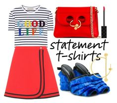 """Statement T-SHirt"" by uxorinmanu ❤ liked on Polyvore featuring Être Cécile, Gucci, Marco de Vincenzo, J.W. Anderson and Maria Black"