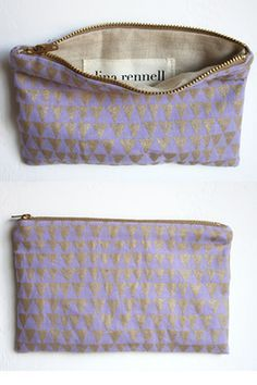 I enjoy using pouches! They help me sort out my makeup, jewellery, accessory, change clutter... The prettier the better. These are by Lina Rennell Give me more