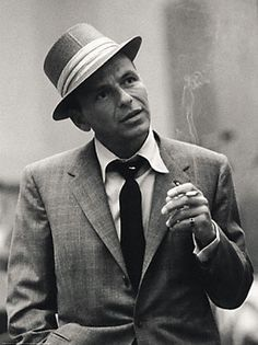 Frank Sinatra - He practiced the same method of smoking as Bette Davis. He drew the smoke into his mouth, but did not inhale it into his lungs.
