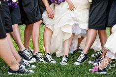 Bridal Party Chucks, B Photography Los Angeles Wedding Photographers