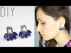 DIY - TUTO : BOUCLES D'OREILLES EN STRASS  - Rhinestone statement earrings swarovski(english subs)