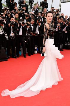 """Zhang Ziyi in Stéphane Rolland gown, Brian Atwood pumps, a Bochic clutch and Chopard jewelry – Cannes 2014: """"Grace of Monaco"""" Premiere"""