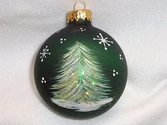 O'Christmas Tree | Done on a dark emerald color ornament, ad… | Flickr