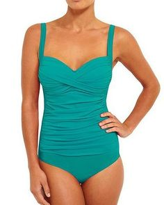 The right swimwear for your shape ... surfproof shapewear: Body By Nancy Ganz Chic Control Suit, 169.95.