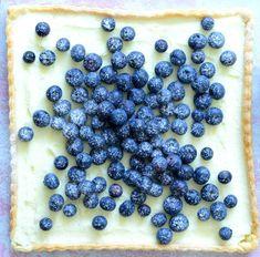 Křehký koláč s borůvkami a mascarpone Creative Food, Blueberry, Cereal, Fresh, Breakfast, Sweet, Dots, Cakes, Mascarpone