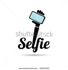 Taking Selfie Photo on Smart Phone concept icon set. Typography Logo, Typography Design, Logo Design, Lettering, Logos, Mobile Phone Logo, Board Shop, Mobile Shop, Phone Icon