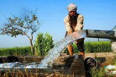 Water, Rangla, Punjab, India.  2013-11-23.