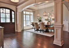 Columns: so this in dining, kitchen and fireplace