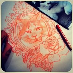 I'm going to end up getting something like this tattooed on my chest of my fat cat who I love sooo much