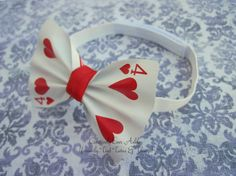 Custom real Playing card Bow-Tie, elastic band $6.00-$9.00. Or DIY Very cute and simple.