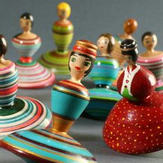 Exiting new collection of spinning tops, all of them skilled dancers!