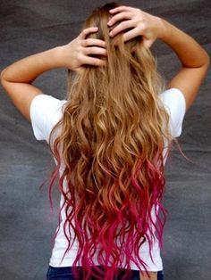 Peinados con mechas de colores