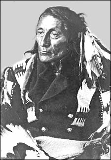 """Chief Crowfoot of the Blackfoot Nation.  """"What is life? It is a flash of a firefly in the night. It is a breath of a buffalo in the winter time. It is as the little shadow that runs across the grass and loses itself in the sunset."""""""