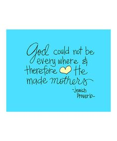 Take a look at this 'He Made Mothers' Print by Doodli-Do's on #zulily today!