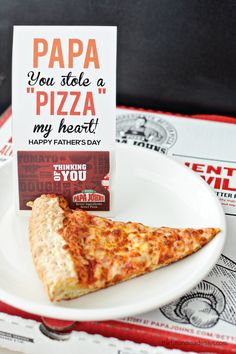 Papa You Stole a Pizza My Heart - Fun Father's day gift idea with a cute printable card.