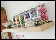 Craft room - ribbon collection