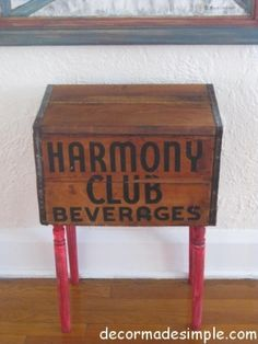 Beverage Wood Box Side Table, Click Here for Details