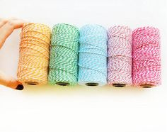 Bakers Twine choose 1 color  TWINE trim by Mariapalito