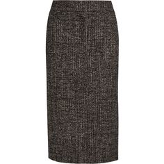TOM FORDZip-embellished Wool-blend Tweed Pencil Skirt (2 231 AUD) ❤ liked on Polyvore featuring skirts, dark brown, embellished pencil skirt, tweed pencil skirt, zipper skirt, pencil skirts and knee length pencil skirt