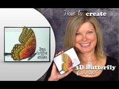 How to create a 3D Shimmery Butterfly Card and Stampin Up Giveaway - YouTube