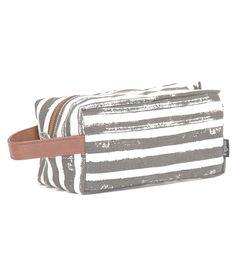 maika – charcoal striped pouch