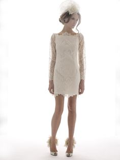 Elizabeth Filmore 2012 Bridal Collection. Love the lace - great for registry, intimate/small, informal, elopement celebration, wedding exit dress or modern take on Chinese tea ceremony