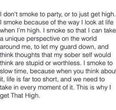 when i smoke weed i think too much