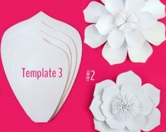 Paper Flower Template DIY Kit by PaperPoshEvents1 on Etsy