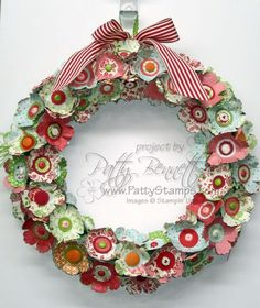 Blossom punch wreath - If you love crafting and stamping and punches and all that jazz, this is a GREAT site!  I love this wreath!