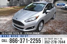 2014 Ford Fiesta SE - Sub-Compact Hatchback - I-4 1.6 L Engine - Alloy Wheels - Remote Keyless Entry - Spoiler - Tinted Windows - Fog Lights - Safety Airbags - Seats 5 - Power Windows, Locks & Mirrors - Folding 2nd Row - AM/FM/CD/SIRIUS Satellite - iPod/Aux/USB - SYNC by Microsoft - Bluetooth - Touch Screen - Digital Compass - Outside Temperature Display - Cruise Control - Ambient Lighting and more!