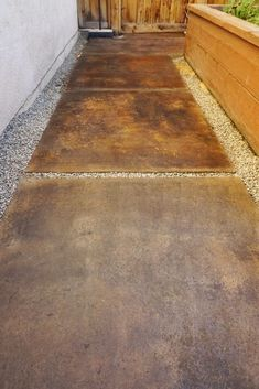 Looking for a beautiful, budget-friendly and easy way to stain concrete?These concrete glazes couldn't be easier and give tons of variety and texture. Stained Concrete Countertops, Concrete Stain Colors, Cement Stain, Acid Concrete, Concrete Walkway, Painting Concrete, Concrete Lamp, Kitchen Countertops, Stamped Concrete