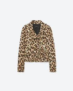 Zara ANIMAL PRINT JACKET