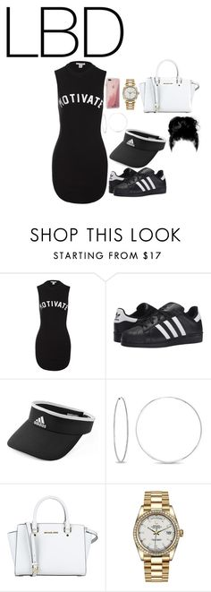 """Untitled #945"" by kellylaeticia ❤ liked on Polyvore featuring Sans Souci, adidas Originals, adidas, Bling Jewelry, MICHAEL Michael Kors, Rolex and Case-Mate"