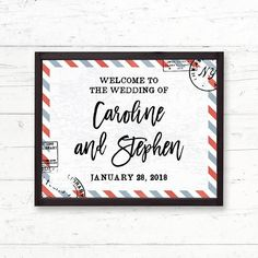 Travel Destination Printable Welcome Sign Bridal Shower Baby Shower Wedding Sign by CrissyDesignCo Bridal Bingo, Bridal Shower Games, Wedding Table Games, Wedding Decorations, Rehearsal Dinners, Wedding Rehearsal, Fingerprint Tree, Favor Tags, Trendy Wedding