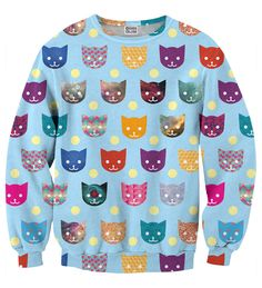 Funny Cats sweater, Mr. GUGU & Miss GO