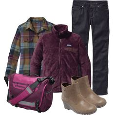 Not that bag, but the rest of the outfit looks like a perfect warm fall outfit. Perfect Fall Day - in Patagonia Fall Colors