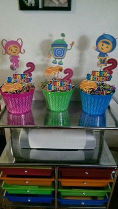 Team umizoomi birthday centerpiece