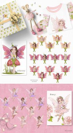 Fairy Clipart, Flower Clipart, Woodland Illustration, Graphic Illustration, Illustrations, Drawing Clipart, Woodland Fairy, Nursery Art, Pretty Little