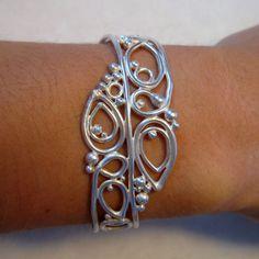 Heavy Sterling Silver Cuff Bracelet in Argentium by BetsyPorter, $95.00
