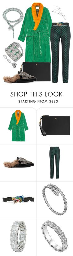"""""""Serpent King"""" by stylinwitdre ❤ liked on Polyvore featuring Gucci, Mary Katrantzou, Bulgari, Chopard, men's fashion and menswear"""