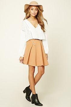 Belted Skater Skirt