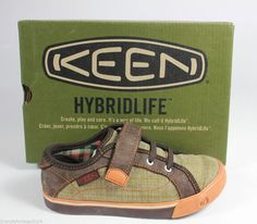 Keen Arcata boys size 11 toddler  shoes khaki and orange #KEEN #CasualShoes
